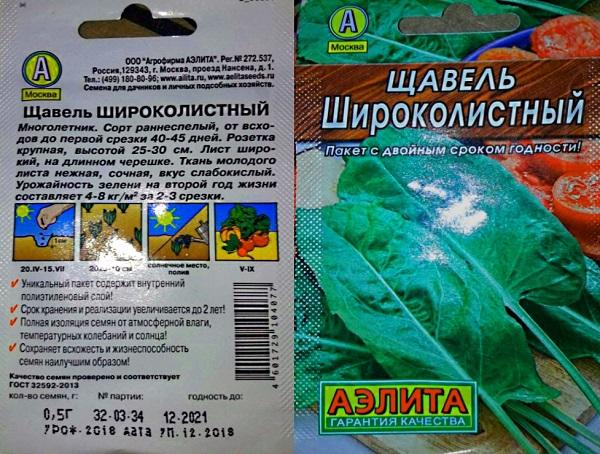 Щавель Широколистный, подходящий сорт для посадки под зиму.